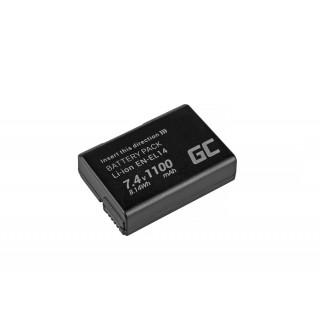 Baterija EN-EL14 za Nikon D3100 / D3400 / D5100 / D5600 / P7000, 1100 mAh