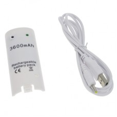 Baterija za Nintendo Wii Remote Controller, bela, 3600 mAh