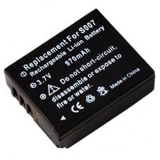 Baterija CGA-S007 za Panasonic Lumix DMC-TZ5 / DMC-TZ4 / DMC-TZ3, 970 mAh