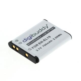 Baterija EN-EL19 / NP-BJ1 za Nikon Coolpix S2500 / S3100 / S01 / S100, 700 mAh