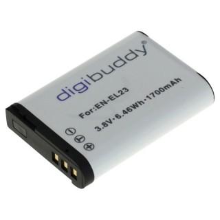 Baterija EN-EL23 za Nikon Coolpix P600 / P80 / S10, 1700 mAh