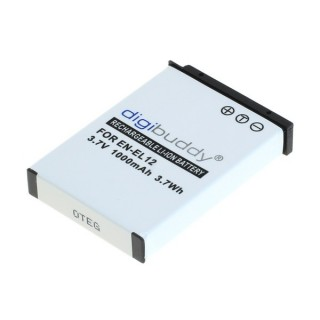Baterija EN-EL12 za Nikon Coolpix S620 / S640 / S1000 / S8000, 1000 mAh