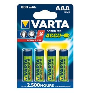Varta Longlife baterija AAA, 4 kos