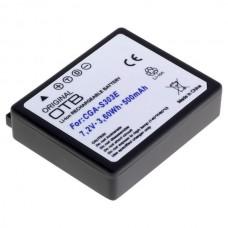 Baterija CGA-S303 za Panasonic SDR-S100 / SDR-S200 / SDR-S300, 500 mAh