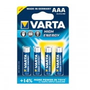 Varta High Energy baterija AAA, 4 kos
