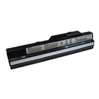 Baterija za Medion Akoya E1210 / MSI Wind U100 / U90, črna, 4400 mAh
