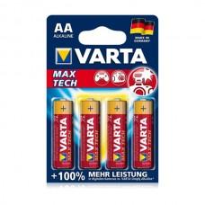 Varta Max Tech baterija AA, 4 kos