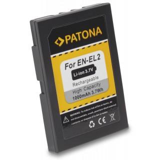 Baterija EN-EL2 za Nikon CoolPix 2500 / 3500 / SQ, 1000 mAh
