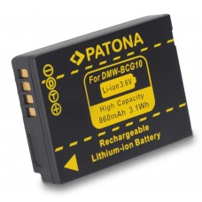 Baterija DMW-BCG10E za Panasonic Lumix DMC-TZ6 / DMC-ZS1, 850 mAh