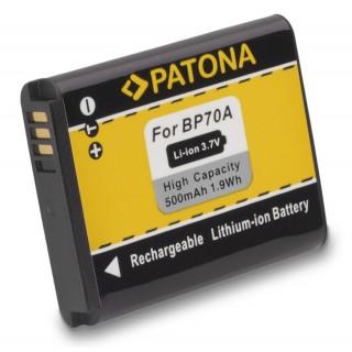 Baterija BP70A za Samsung ES65 / PL80 / SL50 / ST80, 500 mAh