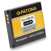 Baterija NB-8L za Canon PowerShot A2200 / A3000 IS / A3100 IS, 740 mAh