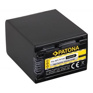Baterija NP-FV100 za Sony DCR-HC16E / FDR-AX100E / HDR-XR105E, 3300 mAh