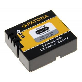 Baterija D30 za AEE SD18 / SD20 / SD22 / SD23, 870 mAh