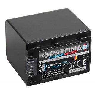 Baterija NP-FV70 za Sony DCR-DVD103 / DCR-DVD105 / DCR-DVD106, 2060 mAh