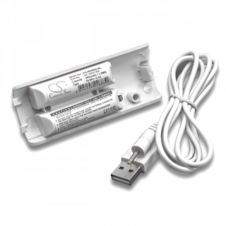 Baterija za Nintendo Wii Remote Controller, bela, 400 mAh