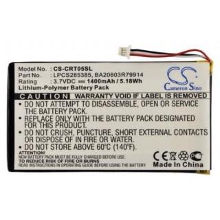 Baterija za Creative Labs Zen Vision M 30GB, 1400 mAh