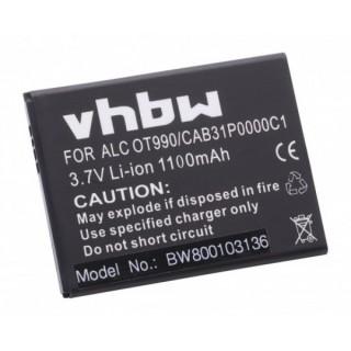Baterija za Alcatel OT-910 / OT-985 / OT-990, 1100 mAh