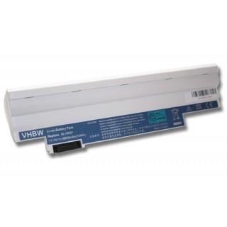 Baterija za Acer Aspire One 522 / 722 / D255 / D255E / D257, bela, 6600 mAh