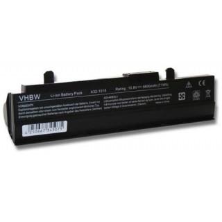 Baterija za Asus Eee PC 1011 / 1015 / 1016, črna, 6600 mAh