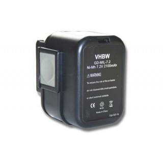Baterija za AEG Milwaukee PES 7.2T, 7.2 V, 2.1 Ah