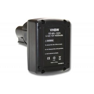 Baterija za AEG Milwaukee C12 B / C12 BX / M12, 12 V, 4.0 Ah