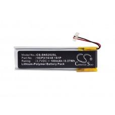 Baterija za Sony NW-S202 / NW-S203 / NW-S205, 100 mAh