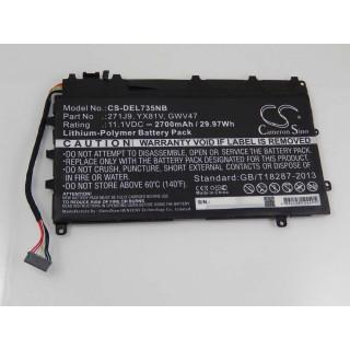 Baterija za Dell Latitude E7350, 2700 mAh