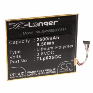 Baterija za Alcatel One Touch Pixi 4 7.0, 2500 mAh