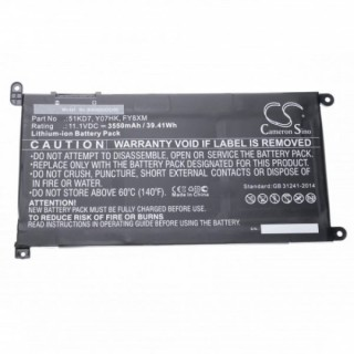 Baterija za Dell ChromeBook 11 3180 / 11 3189, 3550 mAh