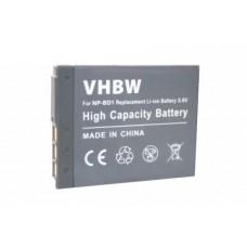 Baterija NP-BD1 za Sony Cybershot DSC-T2  / DSC-T900 / DSC-TX1, 500 mAh