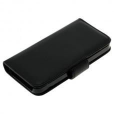OTB preklopna torbica za Apple iPhone 5 / 5s / SE iz umetnega usnja, črna