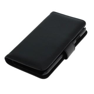 OTB preklopna torbica za Apple iPhone 6 / 6s iz umetnega usnja, črna