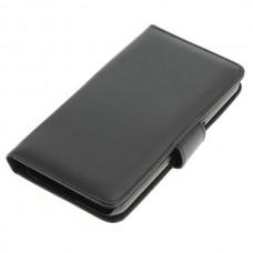 OTB preklopna torbica za Samsung Galaxy S6 iz umetnega usnja, črna