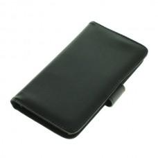 OTB preklopna torbica za Sony Xperia Z3+ iz umetnega usnja, črna