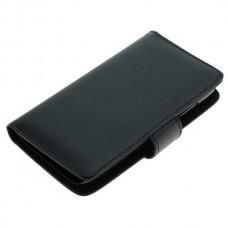 OTB preklopna torbica za Huawei Y5 iz umetnega usnja, črna