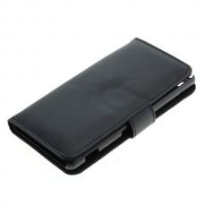 OTB preklopna torbica za Sony Xperia M5 iz umetnega usnja, črna