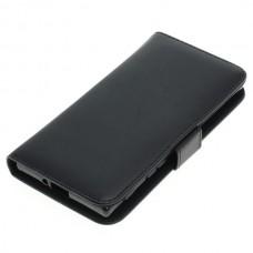 OTB preklopna torbica za Sony Xperia XZ iz umetnega usnja, črna