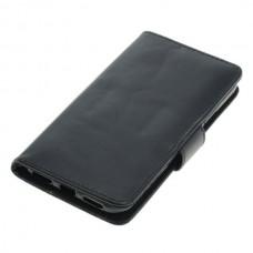 OTB preklopna torbica za Apple iPhone X / XS iz umetnega usnja, črna