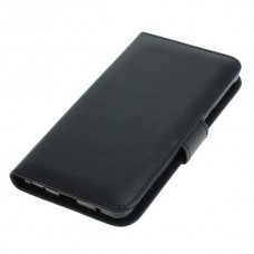 OTB preklopna torbica za Nokia 6.1 iz umetnega usnja, črna