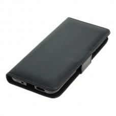 OTB preklopna torbica za Nokia 7.1 iz umetnega usnja, črna