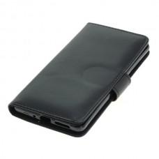 OTB preklopna torbica za Nokia 9 iz umetnega usnja, črna