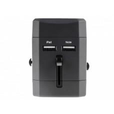 Univerzalni potovalni adapter za UK / US / EU / Kitajska, 2 x USB izhod