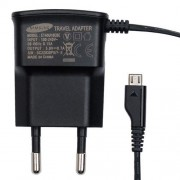 Polnilec za telefone Samsung ETA0U10EBE s kablom MicroUSB, originalni, črn, 0.7A