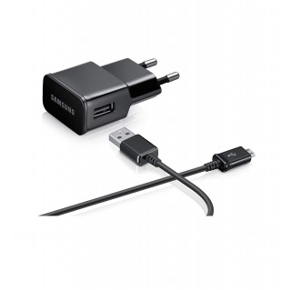 Polnilec za telefone Samsung ETA-U90EBE, s kablom MicroUSB, originalni, črn, 2A