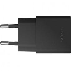 Polnilec za telefone Sony UCH10, originalni, brez kabla, črn, 1.8A