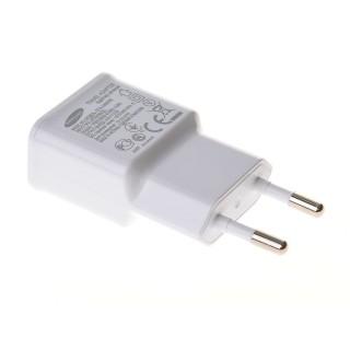 Polnilec za telefone Samsung ETA-U90EWE, originalni, brez kabla, bel, 2A