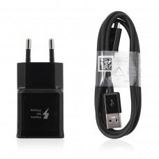 Polnilec za telefone Samsung EP-TA20EBE s kablom MicroUSB, originalni, črn, 2A