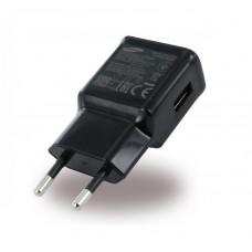 Polnilec za telefone Samsung EP-TA20EBE, originalni, brez kabla, črn, 2A