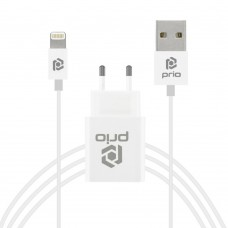 Polnilec za telefone Apple iPhone s kablom Lightning, 12W, 2.4A