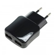 Polnilec / adapter USB, univerzalni, dvojni, funkcija AutoID, 2.1A